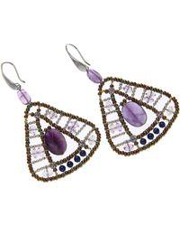 Ziio Jewellery - Blue Earrings For Women On Sale - Lyst