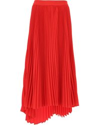MSGM - Red Skirt For Women - Lyst
