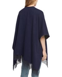 Rag & Bone | Blue Double Faced Poncho | Lyst