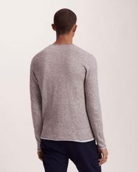 Rag & Bone - Gray Tripp Crew for Men - Lyst
