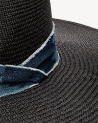 Rag & Bone - Black Wide Brim Panama Hat - Lyst