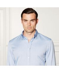 Ralph Lauren Purple Label Purple Oxford Shirt for men