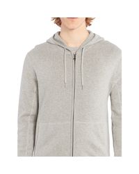 Polo Ralph Lauren - Gray Zipped Drawstring Hoodie for Men - Lyst