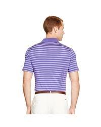 Ralph Lauren - Purple Active-fit Striped Jersey Polo for Men - Lyst