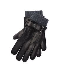 Polo Ralph Lauren | Black Perforated Touch Screen Gloves | Lyst