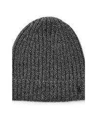 Polo Ralph Lauren | Gray Ribbed Cashmere-wool Hat for Men | Lyst