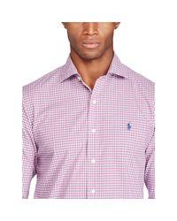 Ralph Lauren - Purple No-iron Cotton Poplin Shirt for Men - Lyst