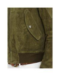 Polo Ralph Lauren Green Suede Bomber Jacket for men