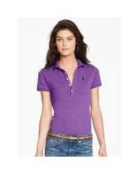 Polo Ralph Lauren - Purple Skinny Fit Stretch Mesh Polo - Lyst