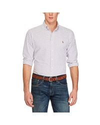 Polo Ralph Lauren | White Plaid Cotton Oxford Classic Fit Button-down Shirt for Men | Lyst