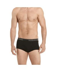 Polo Ralph Lauren | Black Mid-rise Brief 4-pack for Men | Lyst