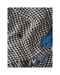 Polo Ralph Lauren - Black Gingham Linen-cotton Scarf for Men - Lyst
