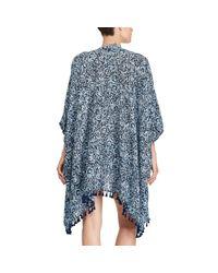 Polo Ralph Lauren | Blue Floral Open-front Kimono | Lyst