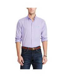 Polo Ralph Lauren - Purple Standard Fit Cotton Shirt for Men - Lyst