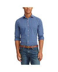 Polo Ralph Lauren - Blue Standard Fit Cotton Shirt for Men - Lyst