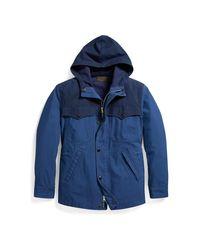 RRL - Blue Indigo Waterproof Jacket for Men - Lyst