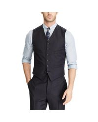 RRL - Blue Pinstripe Wool Vest for Men - Lyst