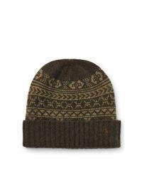 Polo Ralph Lauren | Green Fair Isle Merino Wool Hat for Men | Lyst