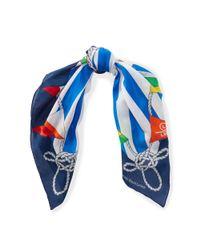 Ralph Lauren - Blue Nautical Cotton-blend Scarf - Lyst