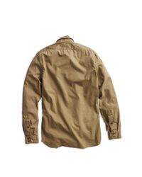 RRL - Natural Twill Military Shirt for Men - Lyst