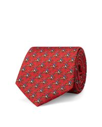 Polo Ralph Lauren - Red Polo Player Twill Narrow Tie for Men - Lyst