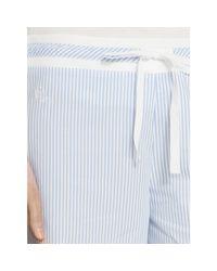 Ralph Lauren - Blue Cotton Poplin Pajama Pant - Lyst