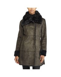 Ralph Lauren - Multicolor Paneled Faux-shearling Jacket - Lyst