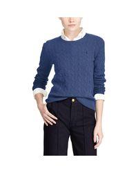 Polo Ralph Lauren - Blue Wool-cashmere Crewneck Sweater - Lyst