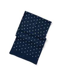 RRL - Blue Polka-dot Mayfair Scarf for Men - Lyst