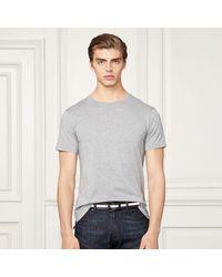 Ralph Lauren Purple Label   Gray Pima Cotton Lisle T-shirt for Men   Lyst
