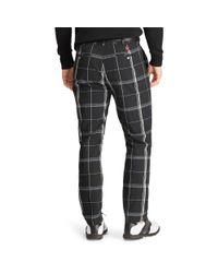 Ralph Lauren Black Tailored Fit Plaid Golf Pant for men