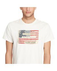 Denim & Supply Ralph Lauren - Natural Flag-patch Cotton Jersey Tee for Men - Lyst