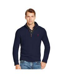 Polo Ralph Lauren | Blue Half-zip Cotton Sweater for Men | Lyst