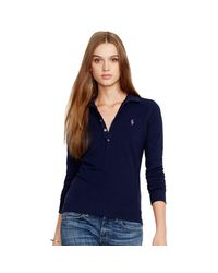 Polo Ralph Lauren   Blue Skinny-fit Stretch Polo Shirt   Lyst
