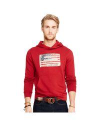 Denim & Supply Ralph Lauren - Red Appliquéd Cotton Hoodie for Men - Lyst