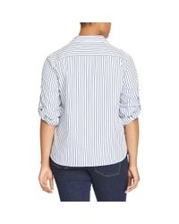 Ralph Lauren - Blue Striped Cotton Shirt - Lyst
