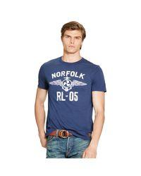 Polo Ralph Lauren | Blue Custom-fit Graphic T-shirt for Men | Lyst