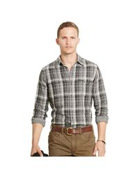 Polo Ralph Lauren | Black Plaid Cotton Western Shirt for Men | Lyst