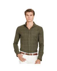 Polo Ralph Lauren | Brown Plaid Cotton Flannel Shirt for Men | Lyst