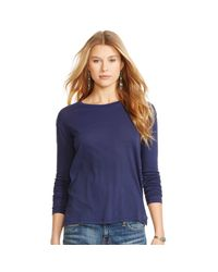 Polo Ralph Lauren | Blue Drapey Long-sleeved Tee | Lyst