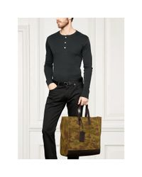 Ralph Lauren - Green Camouflage Suede Tote for Men - Lyst