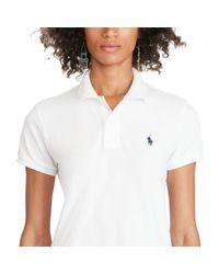 Polo Ralph Lauren - White Classic Fit Mesh Polo Shirt - Lyst