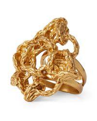 Ralph Lauren - Metallic Interwoven Brass Ring - Lyst