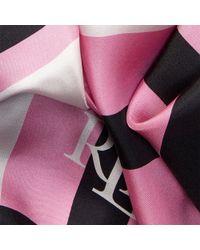 Ralph Lauren - Multicolor Striped Silk Scarf - Lyst