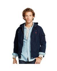 Polo Ralph Lauren - Blue Cotton-blend Windbreaker for Men - Lyst