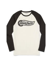 Denim & Supply Ralph Lauren - Black Cotton Graphic Baseball Tee for Men - Lyst
