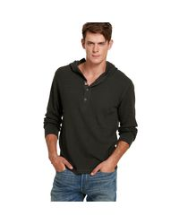 Denim & Supply Ralph Lauren - Gray Waffle-knit Hooded Henley for Men - Lyst