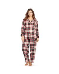 Pink Pony - Multicolor Plaid Flannel Pajama Set - Lyst