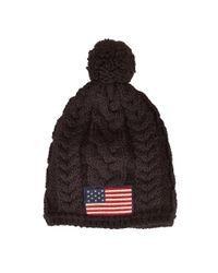 Polo Ralph Lauren - Black Flag Patch Cable-knit Hat for Men - Lyst