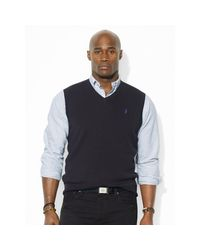 Pink Pony | Black Pima Cotton V-neck Vest for Men | Lyst